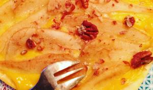 Tarte fine poire-orange et noix de pécan