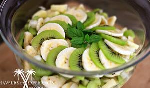 Salade de fruits des îles: Jicama, Banane, kiwi