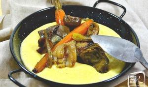 Polenta crémeuse aux légumes