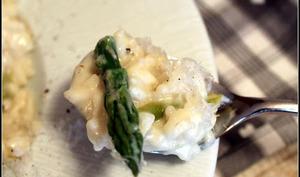 Risotto aux asperges vertes parmesan et mascarpone
