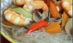 Soupe aux crevettes façon thaï