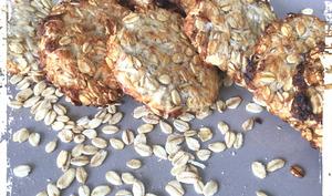 Biscuits de flocons d'avoine,banane et noix de coco