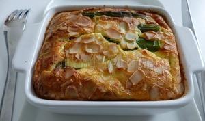Flan d'asperges au parmesan et aux amandes