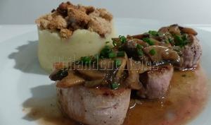 Médaillons de filet mignon de porc sauce forestière