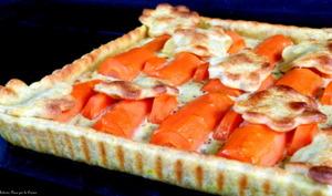 Tarte légère aux carottes rôties et moutarde à l'ancienne