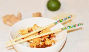 Chou-fleur caramélisé soja et sésame