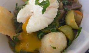 légumes confits oeuf mollet