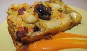 Tortilla et Coulis de Poivron Rouge