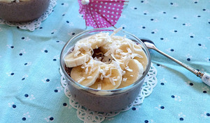 Chia pudding chocolat et banane façon exotique