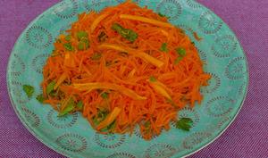 Salade de carottes rapées à la mimolette