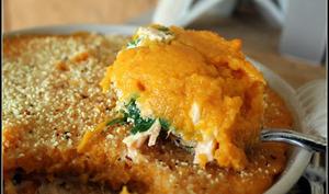 Parmentier aux deux saumons à la patate douce