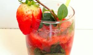Virgin mojito à la fraise