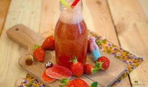 Smoothie pommes fraises
