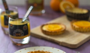 Tartelettes à l'orange et au rhum