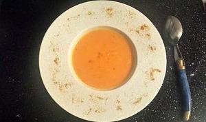 Soupe butternut et patate douce au curry