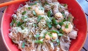 Vermicelles de riz à la dinde et aux crevettes