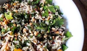 Pilaf de riz sauvage aux herbes