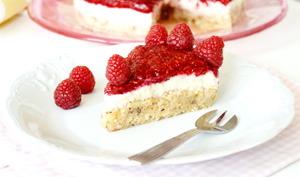 Cheesecake vegan à la framboise
