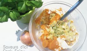 Écrasé de Patates Douces - Oignons Basilic