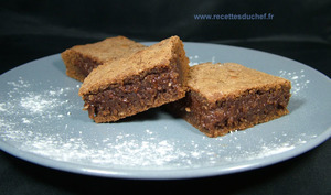 Brownies fondants au chocolat et amandes