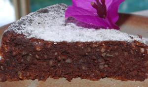 Torta caprese ou gâteau au chocolat et aux amandes de l'île de Capri