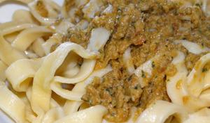 Pesto au basilic et tomates séchées