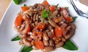 Salade de haricots borlotti, tomate et balsamique
