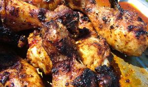 Cuisses de poulet au barbecue marinade au sirop d'érable