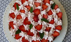 Tarte fraises et mousse de fraises