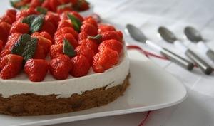Cheesecake à ma façon aux fraises