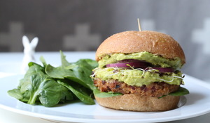 Burger vegan au double guacamole