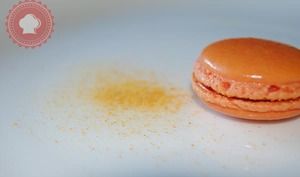 Macarons orange chocolat au lait