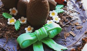Gateau au chocolat de Pâques