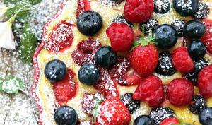 Ricotta gratinée aux fruits rouges