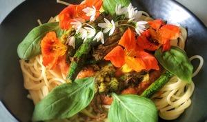 Spaghetti aux fleurs