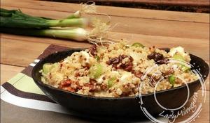 Salade au boulghour, quinoa, feta et noix
