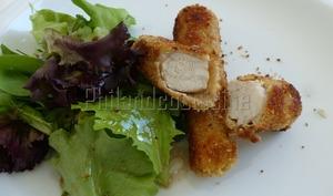 Filets de lapin panés à la poudre de noisettes