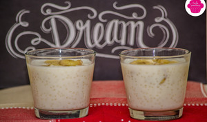 Petit dessert à base de tapioca, lait coco et banane