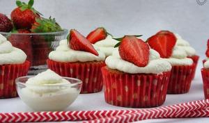 Cupcakes fraise chantilly