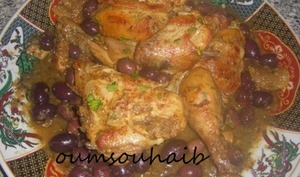 poulet marocain aux olives et citron confit
