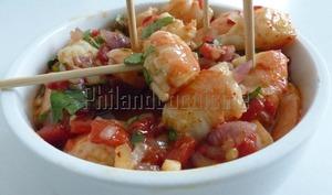 Crevettes marinées à l'heure de l'apéritif