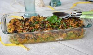 Gratin de courgettes et carottes, chapelure persillée