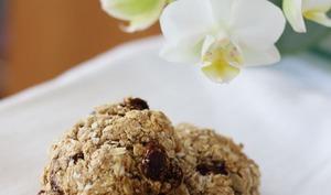 Biscuits croquants aux flocons d'avoine et raisins secs