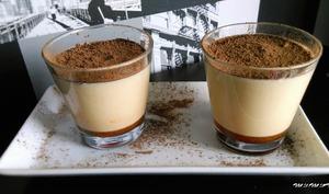 Crème caramel mascarpone sur lit de caramel