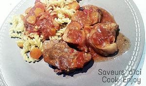 Osso bucco avec le Zeste d'Orange et la crême d'anchois et d'ail