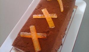 Marquise au chocolat et aux écorces d'oranges confites