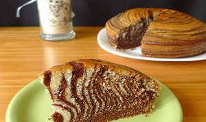 Zebra cake au chocolat et à l'orange