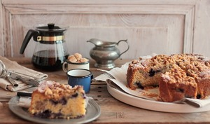 Crumb Cake Myrtilles et Noix