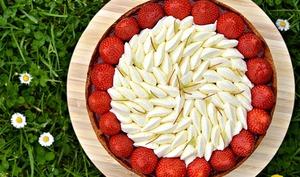 Tart-Ô fraises, rhubarbe