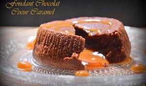 Fondant chocolat coeur caramel
